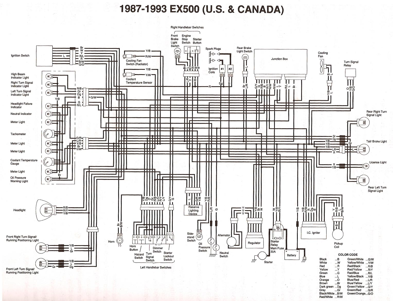 Kawasaki Ninja 500 Wiring Diagram