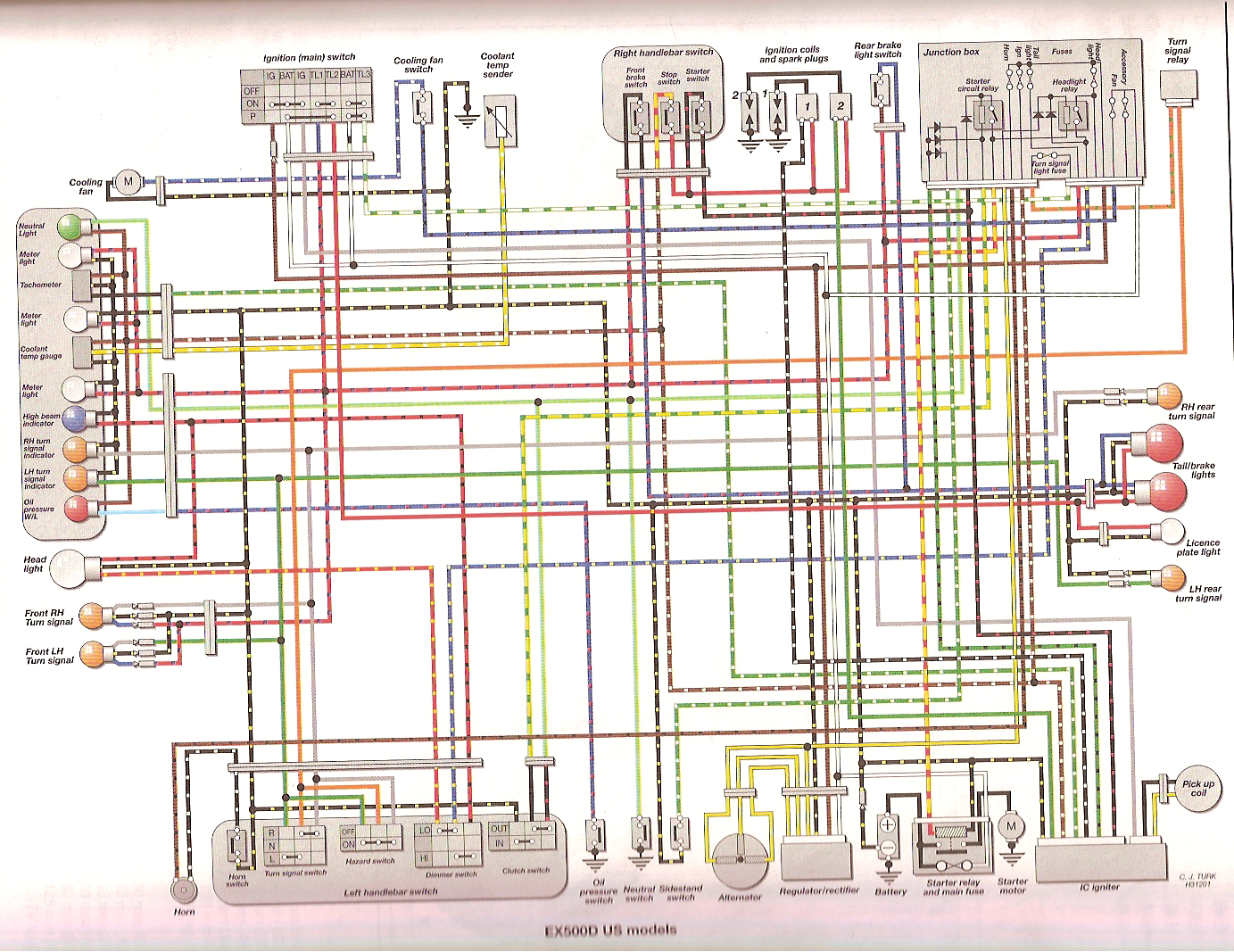 Wiring Diagram 08 Ex 500 Com The Home Of The Kawasaki Ex500 Ninja 500r